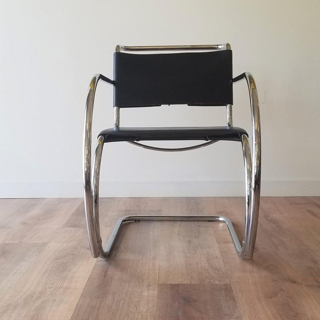 This 1970s MR20 lounge chair is attributed to Ludwig Mies van der Rhoe which he designed in 1927. The chair was originally...