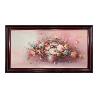 Oil on Canvas Still Life Flowers Painting Signed K.Stone For Sale