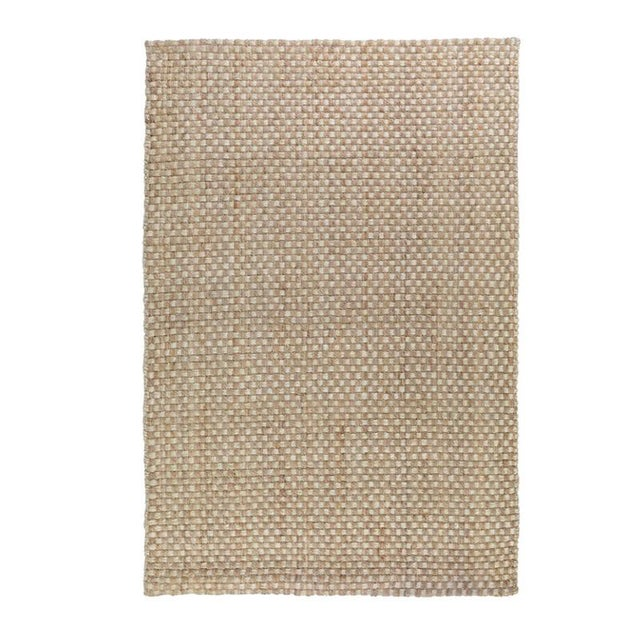 Contemporary Basket Weave Natural/Bleach Jute Rug - 5 X 8 For Sale - Image 3 of 3