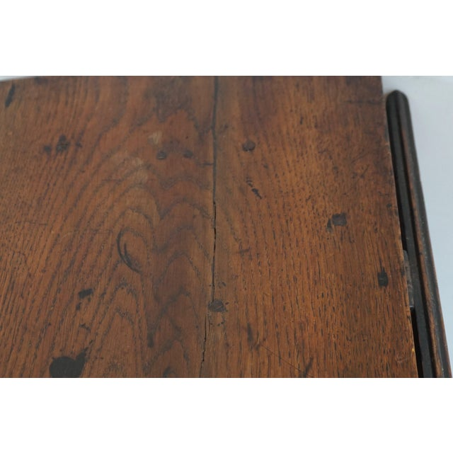 18th Century English Oak Drop Leaf Gateleg Table For Sale - Image 10 of 13