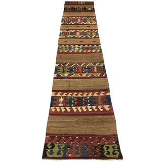 Antique Camel Hair Konya Kilim Circa 1900 | 2'8 X 13'1 For Sale