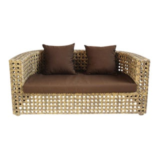 Outdoor Faux Rattan Sofa For Sale