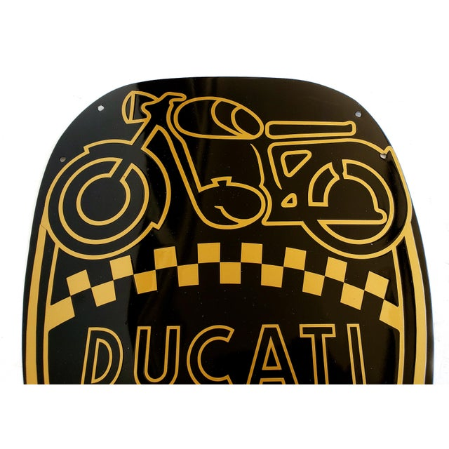 Offered for sale is a Vintage Ducati, Italy - Enamel Motorcycle Sign. Ducati is the classic Italian motorcycle company...