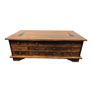 Vintage Wooden Blanket Chest Coffee Table