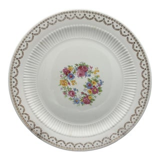 Royal China Gold Filigree Floral Chop Plate For Sale