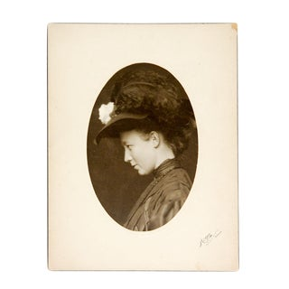 1880's Portrait of Young Woman by Herman Heyn For Sale