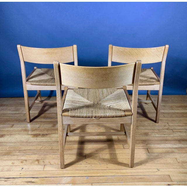 1960s 1960s Vintage Børge Mogensen Bm2 Oak & Papercord Dining Chairs- Set of6 For Sale - Image 5 of 13