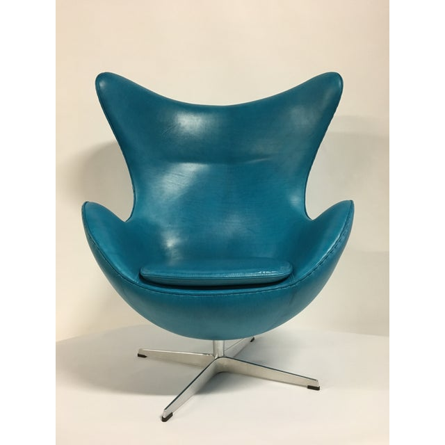 Mid-Century Modern Fritz Hansen Arne Jacobsen Egg Chair For Sale - Image 3 of 7