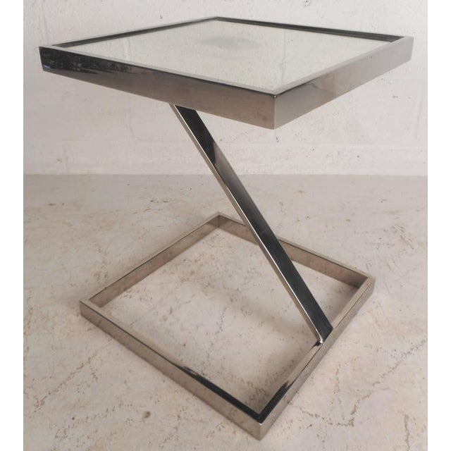 Mid-Century Modern Milo Baughman Style End Table - Image 2 of 7