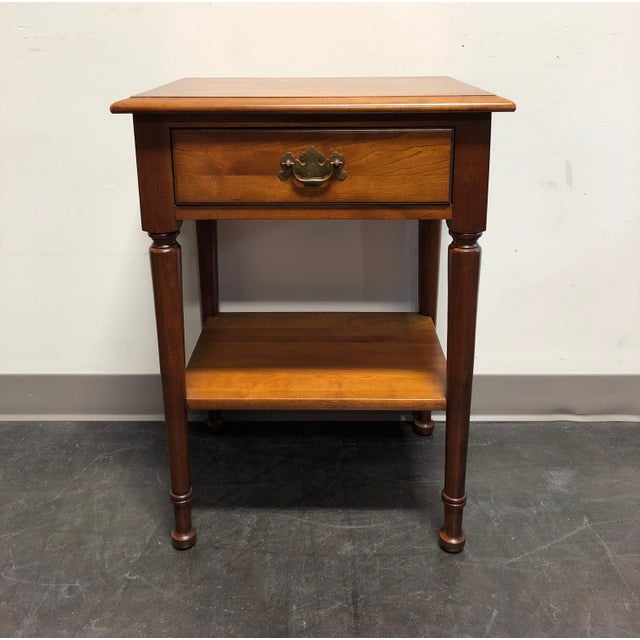 Solid Cherry Chippendale Nightstand by Cherry Hill Collection For Sale - Image 11 of 12