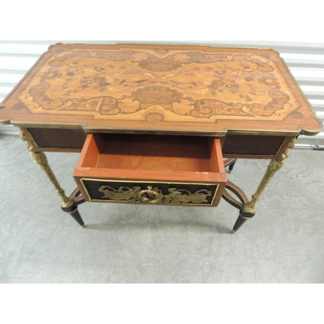 Vintage Reproduction of Louis XVI Style Center Table For Sale In Miami - Image 6 of 10