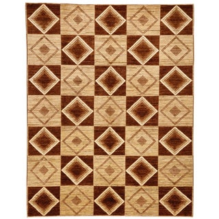 """Diamonds"" Hand Knotted Wool Rug - 8'4"" X 10'7"" For Sale"