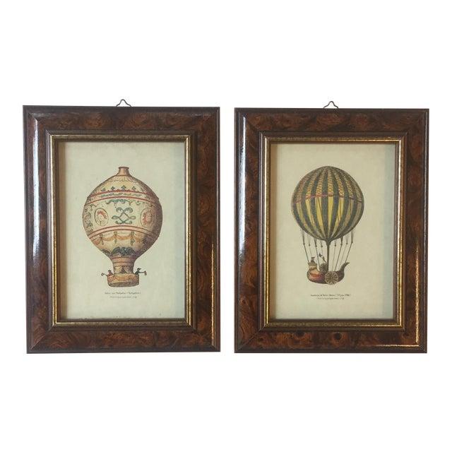 Vintage Hot Air Balloon Prints - A Pair For Sale
