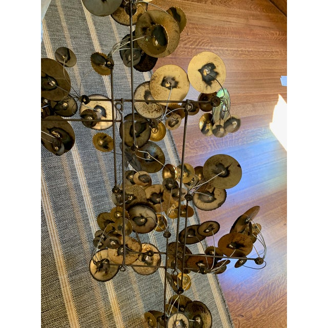 Metal 1990s C. Jere Raindrops Brass Wall Sculpture For Sale - Image 7 of 8