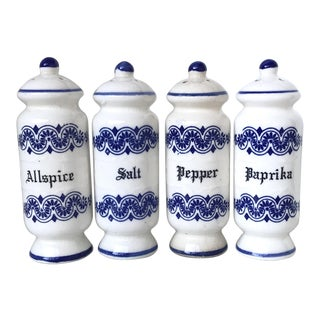 Vintage English Ceramic Spices Shakers - Set of 4