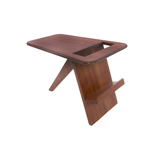 Wood 1960s Solid Walnut Magazine Holder For Sale - Image 7 of 7