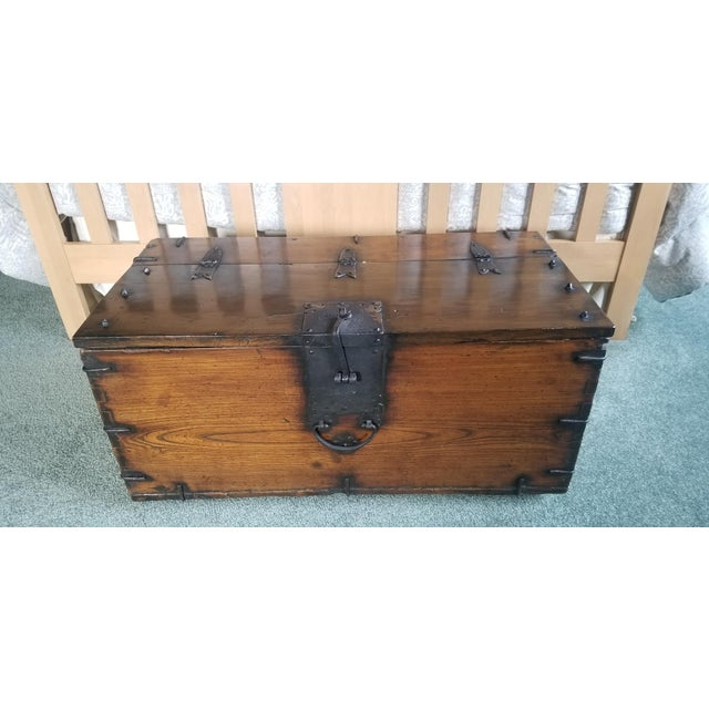 Antique Korean Dowry Small Chest For Sale - Image 12 of 12