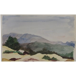 Winter in the Foothills Watercolor For Sale