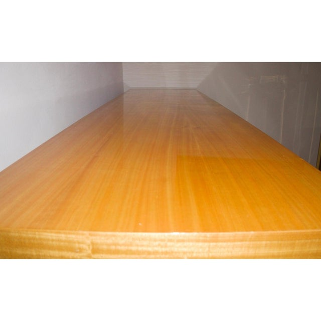 Late 20th Century Vintage Karl Springer Style Console Table Satinwood - 2 Are Available For Sale - Image 5 of 7