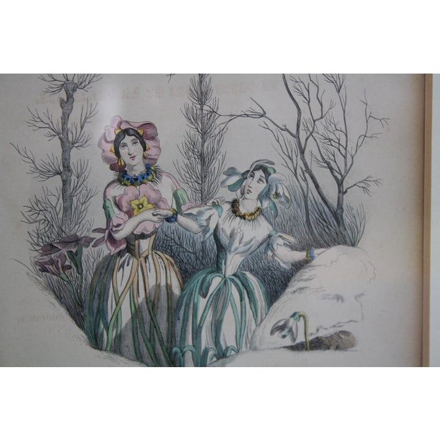 Paper Antique French Engraving - a Pair For Sale - Image 7 of 11