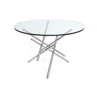 Italian Modern Polished Chrome Low Table, Theodore Waddell for Cassina