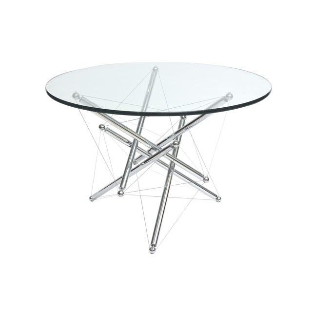 Italian Modern Polished Chrome Low Table, Theodore Waddell for Cassina For Sale