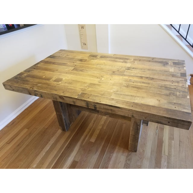 7424830222e West Elm Emmerson Reclaimed Pine Dining Table For Sale - Image 5 of 5