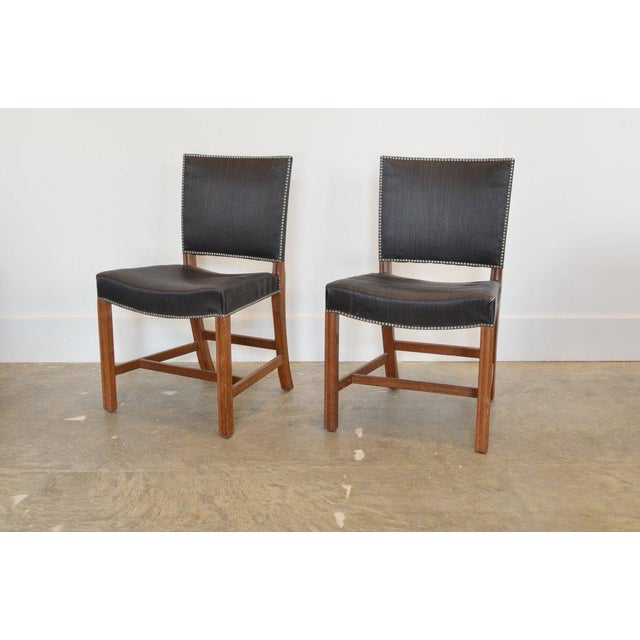 Red Chair' Designed by Kaare Klint c 1954. Mfg: Rud. Rasmussen Cabinetmakers, Copenhagen. Materials: Mahogany Frame with...