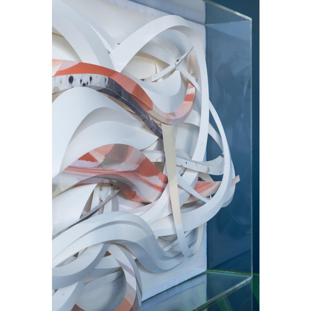 Don Bowman Vintage 1970s Abstract Paper Sculpture - Image 6 of 6
