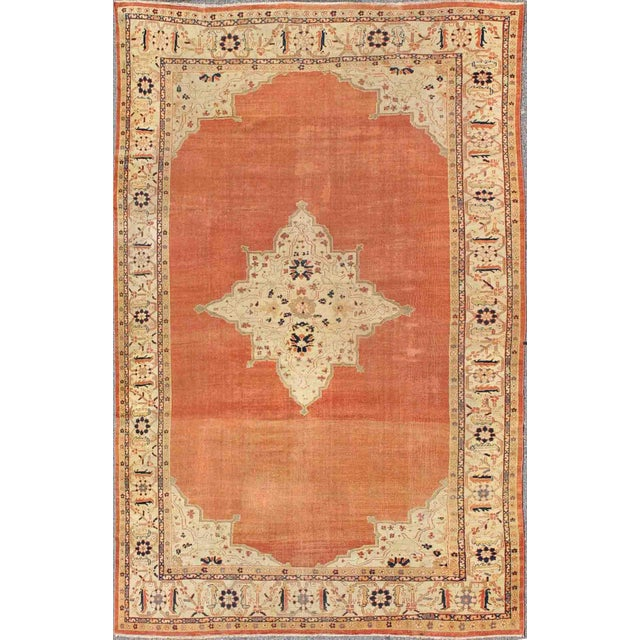 Keivan Woven Arts, E-1207, Late 19th Century Antique Ziegler Sultanabad Rug - 10′2″ × 14′5″ For Sale - Image 10 of 10