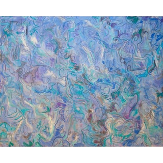 """""""Early Birds"""" by Trixie Pitts XL Abstract Oil Painting For Sale"""
