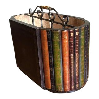 Maitland-Smith Leather Classic Book Magazine Rack