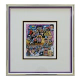 Image of Contemporary Framed Rock N Roll 3d Serigraph Signed Charles Fazzino 327/475 Coa For Sale