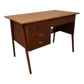 "Original Danish Mid Century Petit Teak Desk - ""Christians Brygge"""