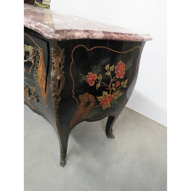 Chinoiserie Marble-Top Commode For Sale In Philadelphia - Image 6 of 10