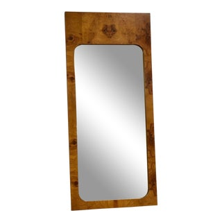 Lane Mid Century Burl Mirror For Sale