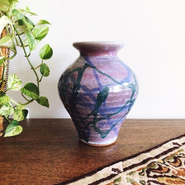 Vintage Studio Art Ceramic Vase For Sale - Image 4 of 6