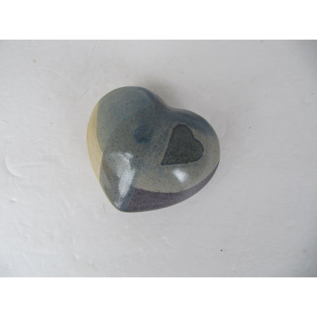 2000 - 2009 Handmade Pottery Heart Rattle For Sale - Image 5 of 5