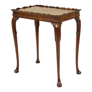 19th Century Queen Anne Walnut Tea Table For Sale