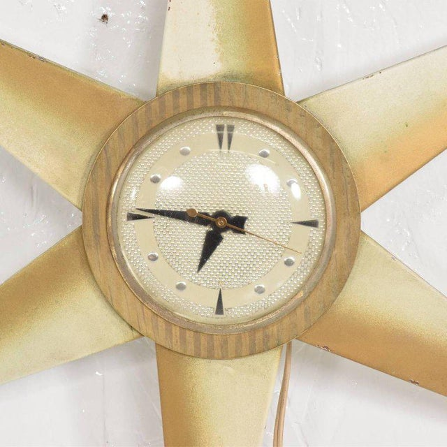 Mid-Century Modern Mid-Century Modern Star Electric Clock Bilt Rite Mfg Co For Sale - Image 3 of 11