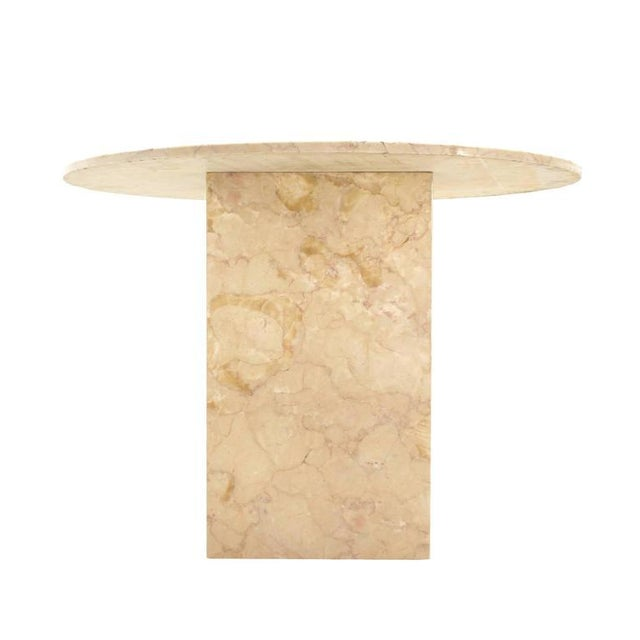 Mid 20th Century Vintage Mid Century Marble Base and Top Gueridon Center Table For Sale - Image 5 of 6