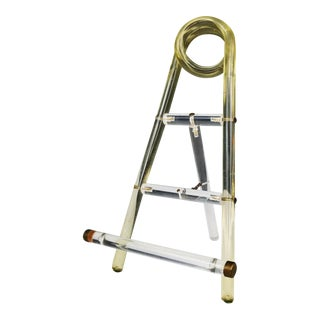 Hollywood Regency Lucite Photo Easel Display Stand