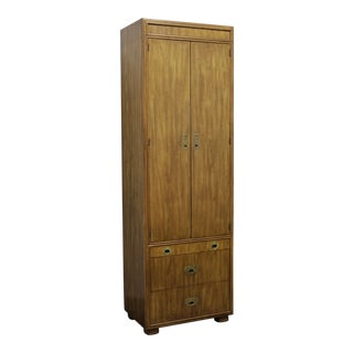 Drexel Heritage Passage Campaign Style Armoire / Cabinet 3 For Sale