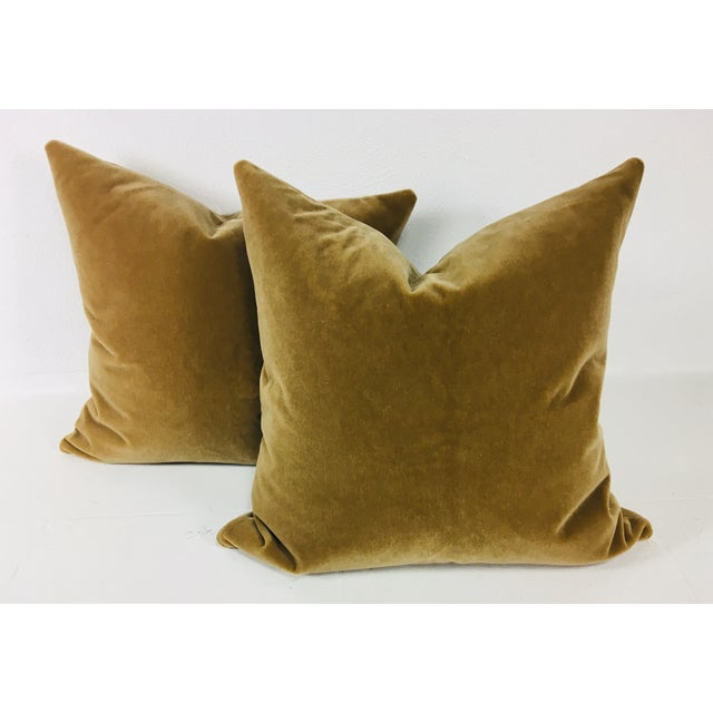 Champagne Wool Mohair Pillows - a Pair For Sale - Image 4 of 4