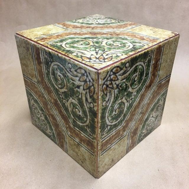 Ceramic Contemporary Italian Tile Cachepot/Riser For Sale - Image 7 of 7