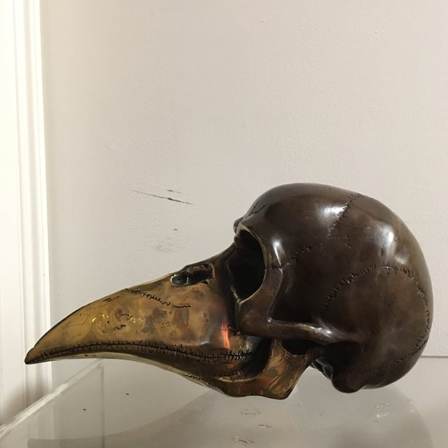 1970s 1974 Bronze Modernist Skull Sculpture by Stein For Sale - Image 5 of 7