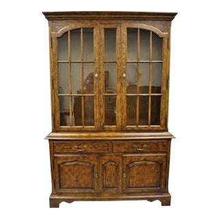 20th Century Americana Drexel Heritage Chatham Oak Hutch For Sale