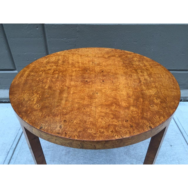 Art Deco Art Deco Burl Wood Table For Sale - Image 3 of 7