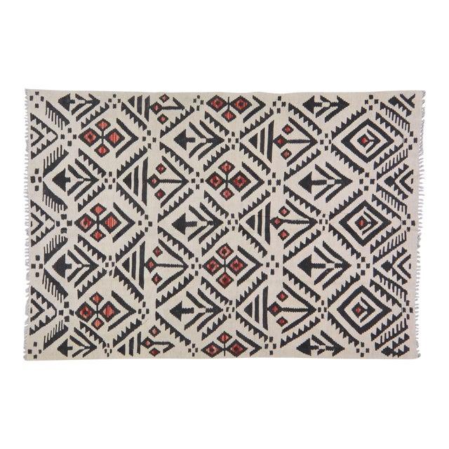 "Vintage Afghan Tribal Natural Color Hand Made Organic Wool Maimana Kilim,4'x5'9"" For Sale"