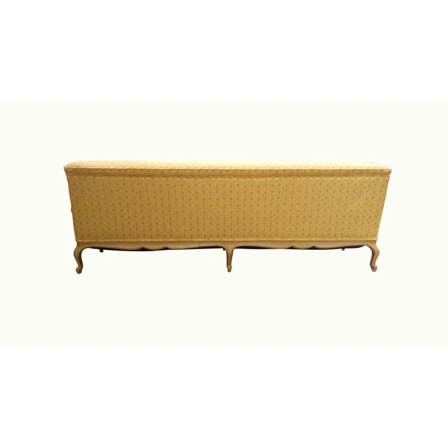 Louis XV Style Tufted Sofa in Yellow - Image 5 of 8
